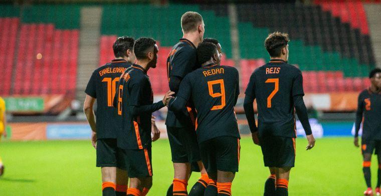 Niet op hoogste versnelling spelend Jong Oranje boekt alsnog ruime overwinning