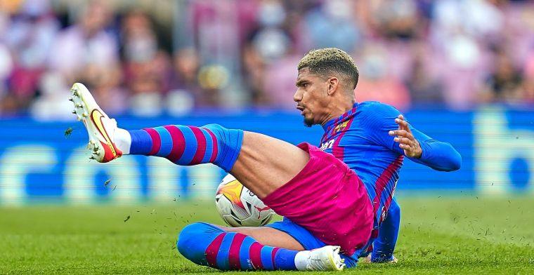 Weer blessurenieuws bij Barça: Araújo keert met kwetsuur terug van interlands