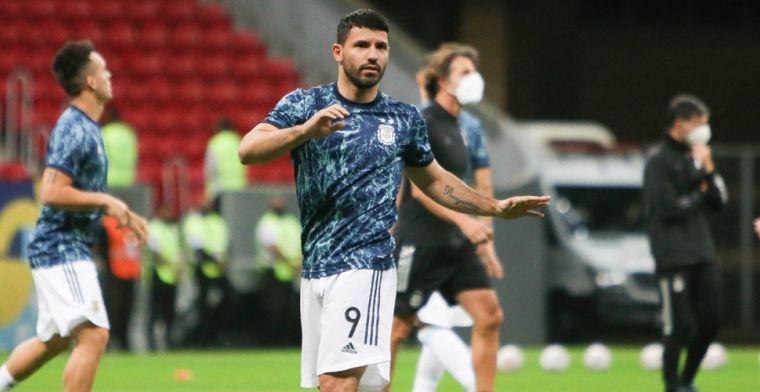 Agüero maakt na blessureleed officieus Barça-debuut en komt direct tot scoren