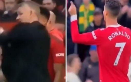 Chaos bij United: Ronaldo zet Solskjaer voor schut met 'aanwijzingen'